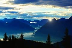 Tiroler Alpen Sonnenuntergang