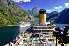 Kreuzfahrt Norwegen Geiranger Fjord