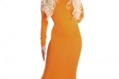 Top-Model Kleid orange Fleur de Fries