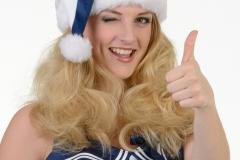 Weihnachtsfrau Model blond