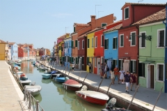 Venedig Burano Bunte Häuser