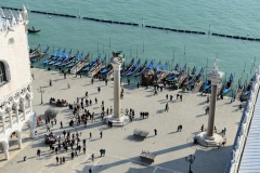 Venedig Campanile Säulen Markusplatz