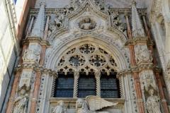 Venedig Dogenpalast Portal Porta Carta
