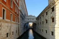 Venedig Kanal Seufzerbruecke